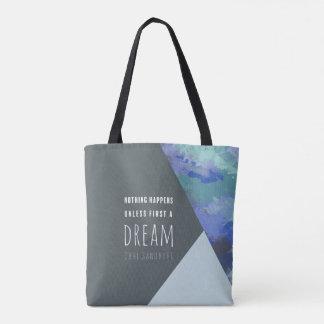 Sac fourre-tout inspiré géométrique au rêve  