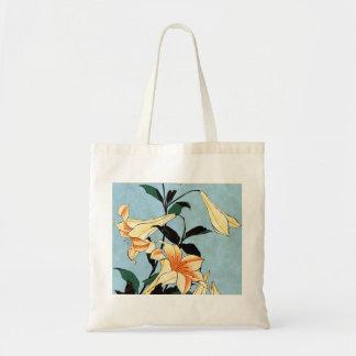 Sac fourre-tout japonais à lis de Hokusai