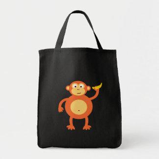 Sac fourre-tout orange à singe