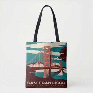 Sac fourre-tout vintage à style de San Francisco