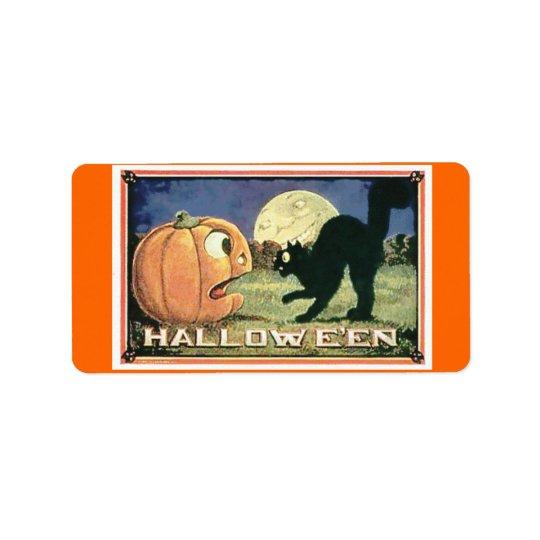 Sac Halloween de sucrerie Étiquette D'adresse