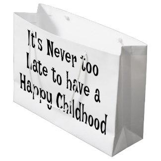 Sac heureux de cadeau d'enfance