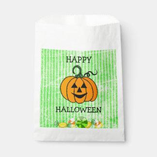 Sac heureux de faveur de citrouille de bonbons au sachets en papier