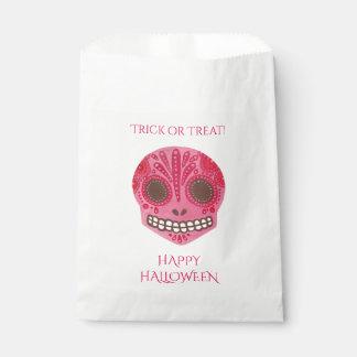 Sac heureux de faveur de Halloween de crâne rouge Sachets En Papier