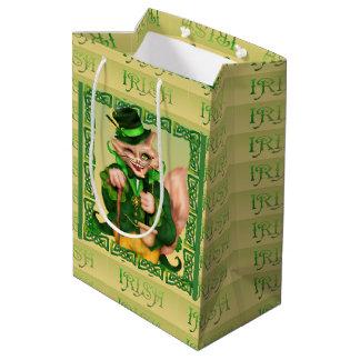 Sac IRLANDAIS de cadeau de CAT St Patrick - milieu