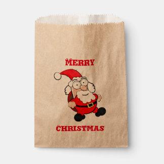 Sac mignon de faveur de Père Noël Papier Sachets En Papier