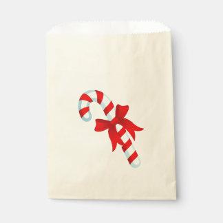 Sac mignon de faveur de sucre de canne de Noël Sachets En Papier