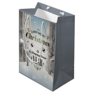 Sac moyen de cadeau de salutations de Noël