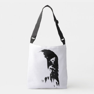 Sac noir et blanc d'Eagle chauve