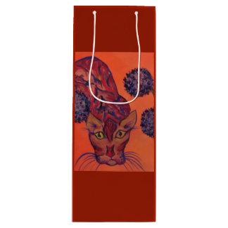 sac orange de cadeau de chat