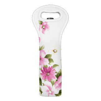 Sac Pour Bouteilles De Vin Fleurs de floraison Girly colorées adorables