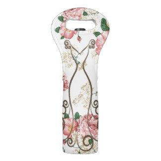 Sac Pour Bouteilles De Vin Robe élégante adorable, floral Motif-Personnalisée