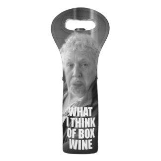 Sac Pour Bouteilles De Vin Vieux-Dame drôle Wine Sleeve