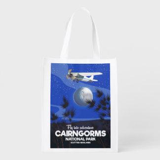 Sac Réutilisable Affiche écossaise de vol de Cairngorms de