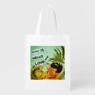 Sac Réutilisable Aloha sac à provisions