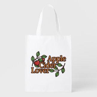 Sac Réutilisable Amant de cidre d'Apple
