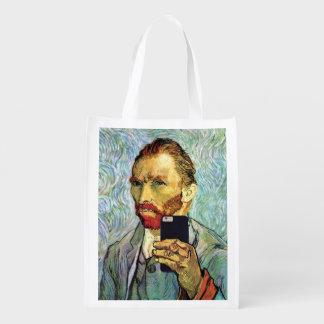 Sac Réutilisable Autoportrait de Selfie de portable de Vincent van