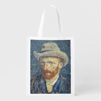 Sac Réutilisable Autoportrait de Vincent van Gogh | avec le chapeau