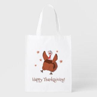 Sac Réutilisable Bon thanksgiving Turquie drôle