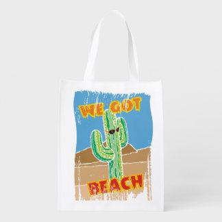 Sac Réutilisable Cactus du sud-ouest drôle de désert nous avons