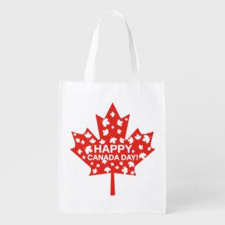 Sac Réutilisable Célébration de jour du Canada