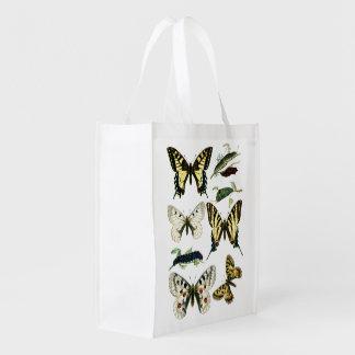Sac Réutilisable Chenilles, papillons et mites de machaon