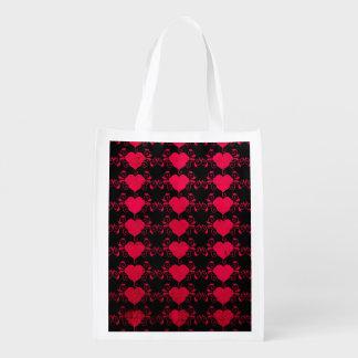 Sac Réutilisable Coeur abstrait de Steampunk