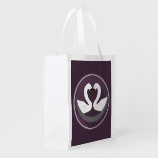 Sac Réutilisable CYGNES d'AMOUR réutilisables de sac
