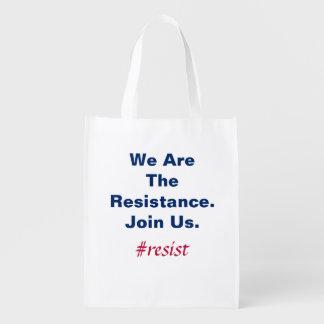 Sac Réutilisable Démocratie de soutien nous sommes la résistance
