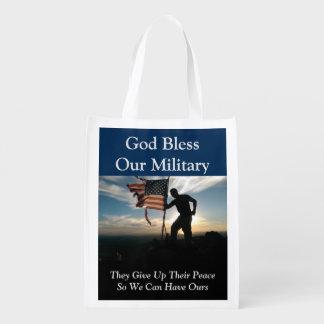 Sac Réutilisable Dieu bénissent notre sac d'épicerie réutilisable