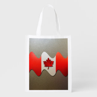 Sac Réutilisable Drapeau-Chrome du Canada par Shirley Taylor