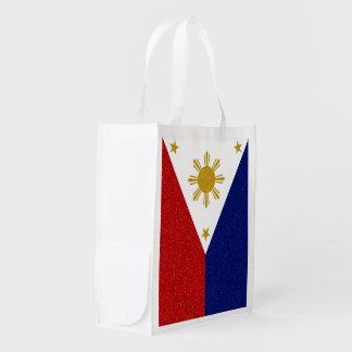 Sac Réutilisable Drapeau de scintillement de Philippines