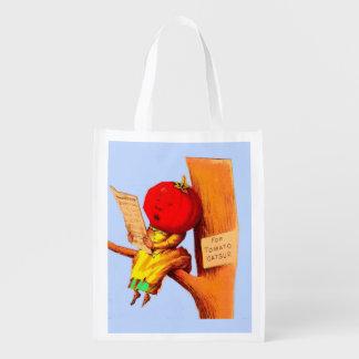 Sac Réutilisable Femme commerciale victorienne de tête de tomate de