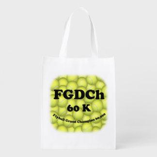 Sac Réutilisable FGDCh 60K, champion grand de Flyball, 60.000