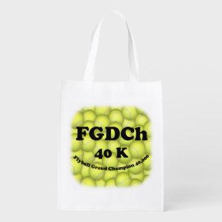 Sac Réutilisable FGDCh, champion grand de Flyball, 40.000 points