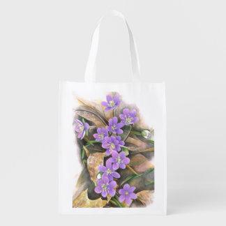 Sac Réutilisable fleurs violettes