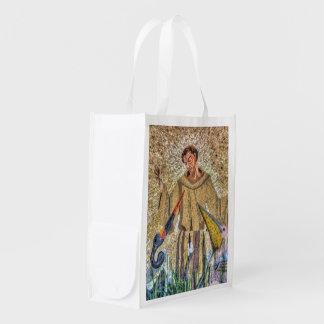 Sac Réutilisable Francis de mosaïque d'Assisi