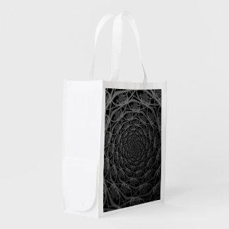 Sac Réutilisable Galaxie des filaments dans le sac d'épicerie noir