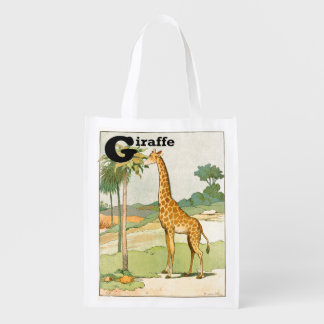 Sac Réutilisable Girafe mangeant l'acacia dans le désert
