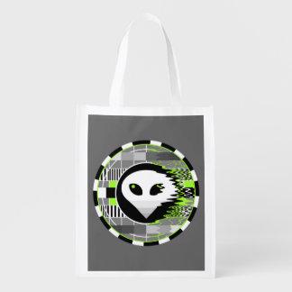 Sac Réutilisable Gris réutilisable rond de sac de l'alien TV
