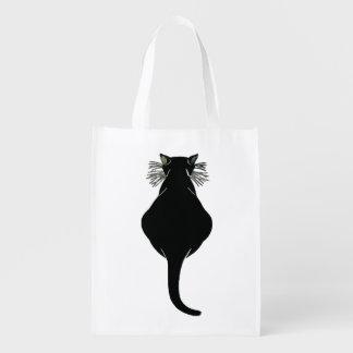 Sac Réutilisable Gros dos de chat noir