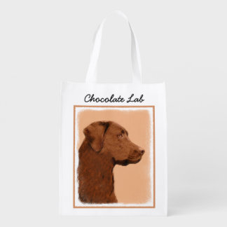 Sac Réutilisable Labrador retriever (chocolat)