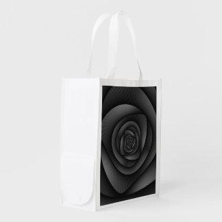 Sac Réutilisable Labyrinthe de spirale    de sac d'épicerie dans le