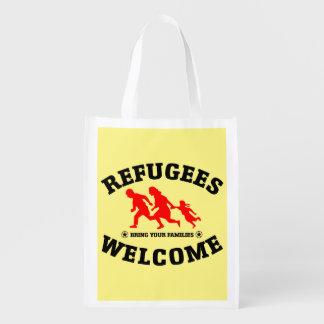 Sac Réutilisable L'accueil de réfugiés amènent vos familles