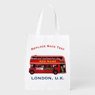 Sac Réutilisable L'autobus à impériale rouge de Londres