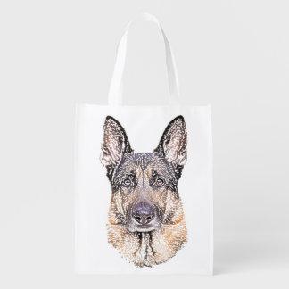 Sac Réutilisable Le portrait d'un chien de berger allemand a