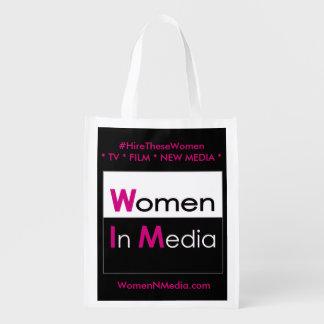 Sac Réutilisable Les femmes dans les médias EZ plient le sac à