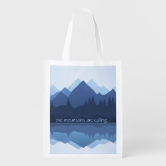 Sac Réutilisable Les montagnes appellent… la conception Fourre-tout