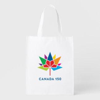Sac Réutilisable Logo de fonctionnaire du Canada 150 - multicolore