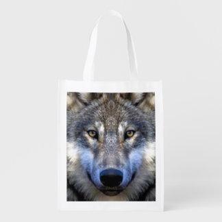 Sac Réutilisable Loup gris
